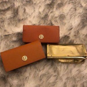 Set of Tory Burch sunglasses cases THREE!
